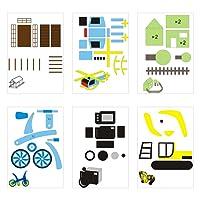 VBESTLIFE 20Pcs 3D Papier Modèles, Moule de Papier Stylo 3D pour Stylo d'Impression 3D Stylos 3D Modèles pour Enfants DIY.