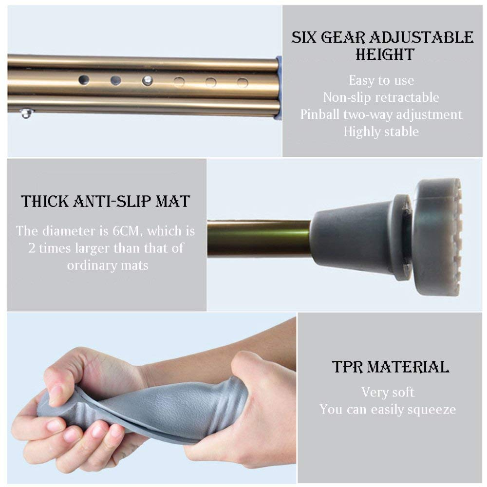 ACZZ Muletas Muletas Axila de aleación de aluminio ...