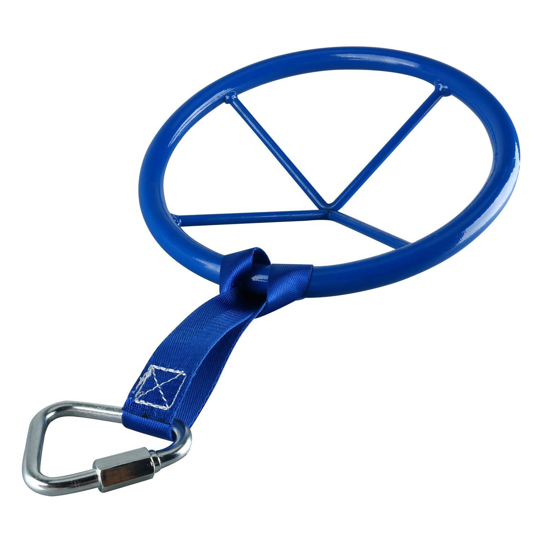 Yaegoo 10 Inch Diameter Metal Ninja Wheel with Safety Carabiner | Advanced Monkey Bar Obstacle | Ninja Warrior Training Equipment by Yaegoo