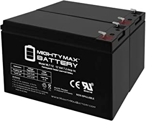Mighty Max Battery ML7-12 - 12V 7.2AH Alarm Home Security System Battery - 2 Pack Brand Product