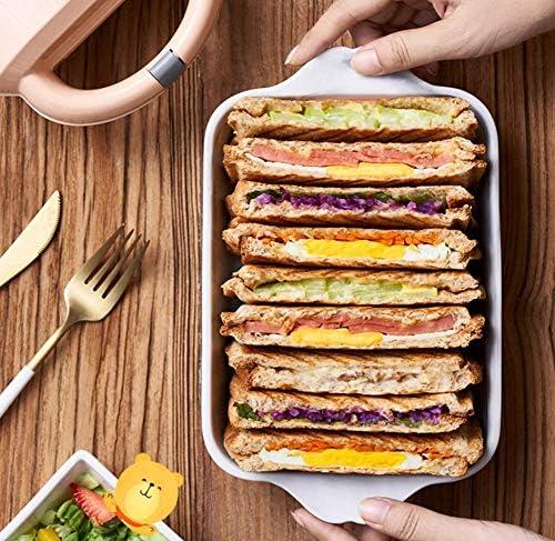 Oursez la machine de petit déjeuner de fabricant de sandwich, machine multifonctionnelle de pain de pression de pain grillé de machine de pain de ménageYLXBH