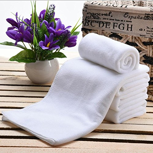 Zehui 30x70cm White Disposable Face Towel Hair Salon Towels Travel Washcloth 10pcs/pack