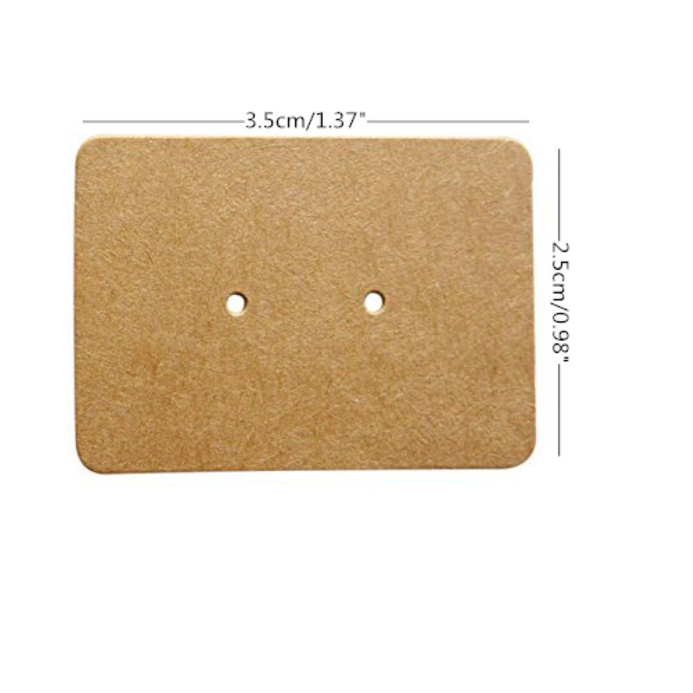 Honbay 200pcs Kraft Paper Earring Display Earring Tags Ear Stud Card
