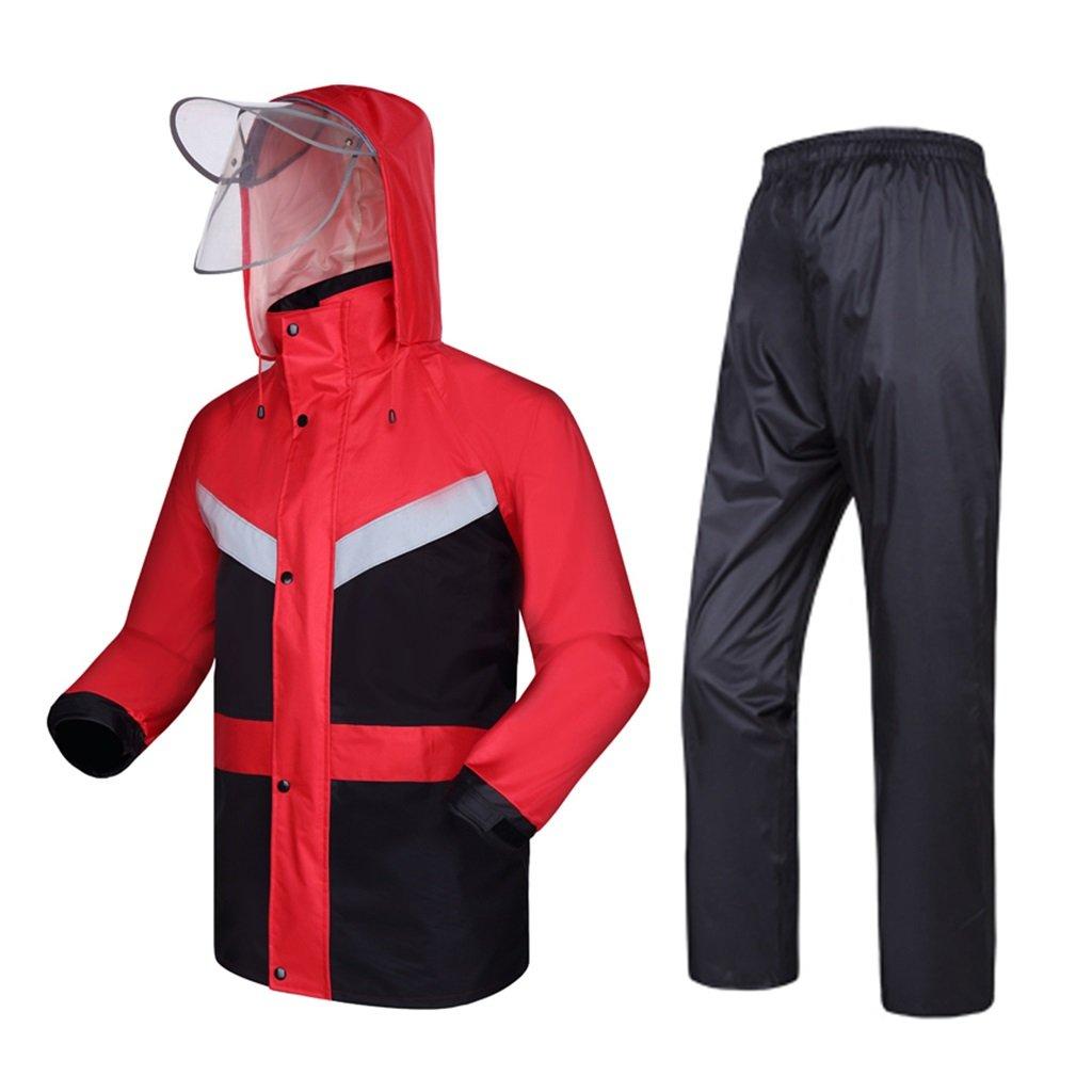 X-grand MXueei VêteHommests de Pluie vêteHommest de Pluie pour Hommes Veste de Pluie réutilisable et Pantalon de Pluie Adultes fixés à la Pluie Coupe-Vent à Capuche (Taille   XXXL)