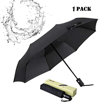 Glamore Compact Windproof Travel Umbrella with Auto Open/Close