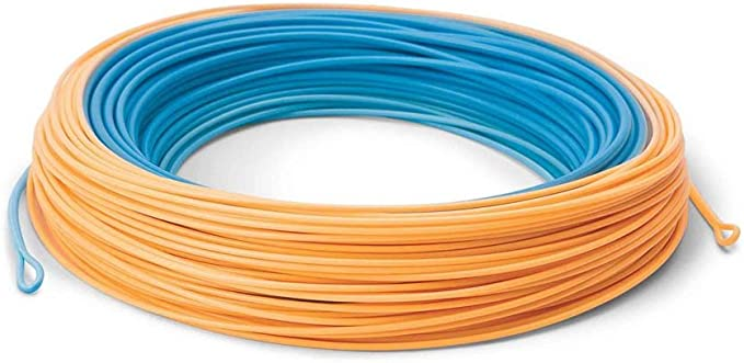 Cortland Long Belly Spey Fishing Line Orange RL Electric Blue Head Sizes 550-725
