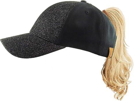 KBETHOS Ponytail Messy High Bun Headwear Adjustable Cotton Trucker Mesh Hat Baseball Cap