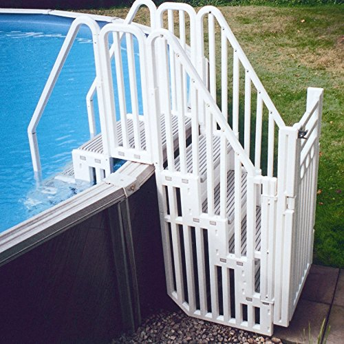 Confer Entry System for Above Ground Pools (Various Step Colors) ()