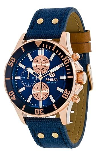 bd861cefe85 Reloj Marea Hombre B54067 2 Azul Multifunción  Amazon.es  Relojes