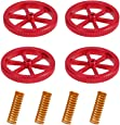 Creality 3D Printer 4PCS Metal Leveling Nut Suit Hand Twist Nut for CR-10/CR-10 Mini/CR-X/Ender 3/Ender 3 Pro/Ender 5 Red