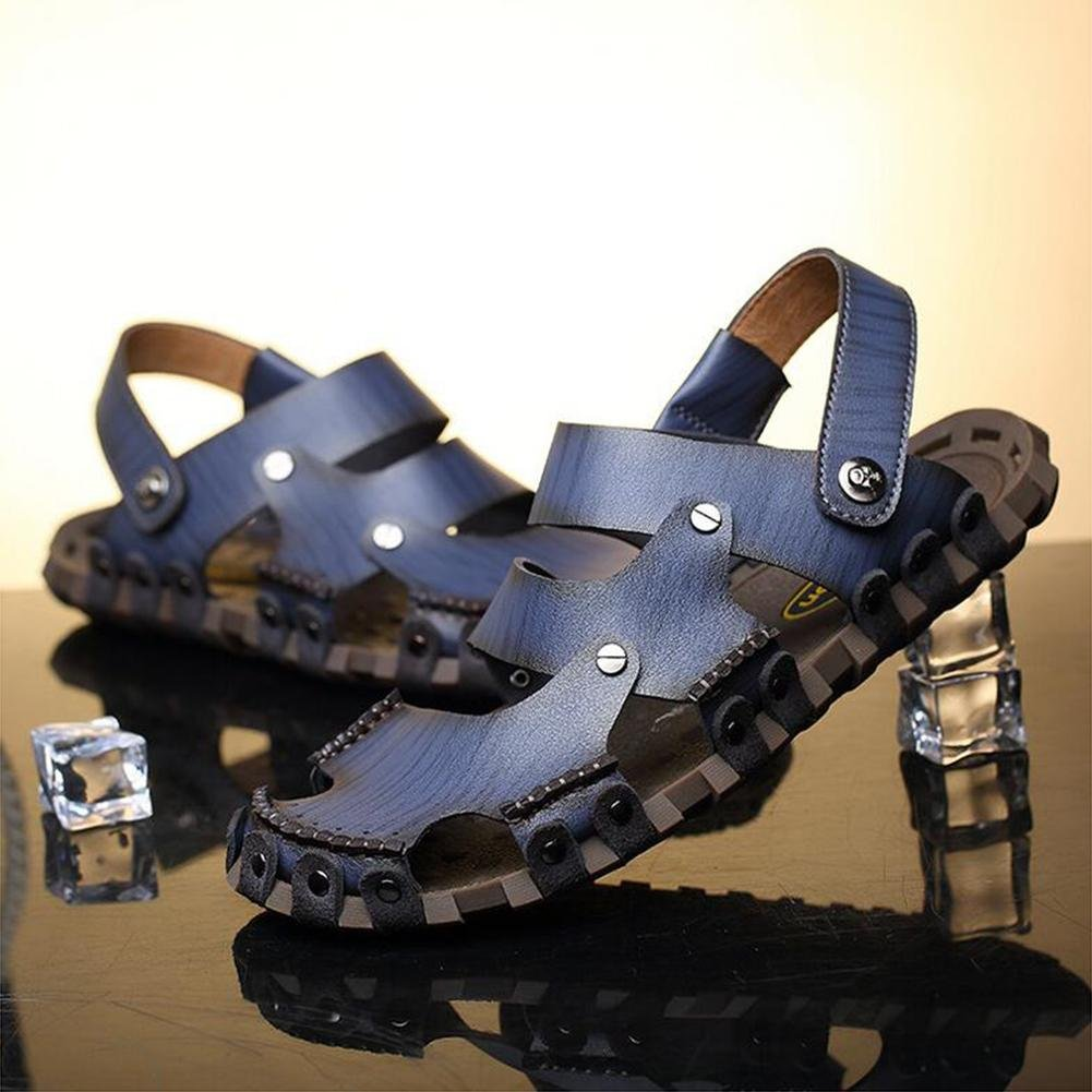 603974ddfcc07e FFTX Sandales en Cuir pour Hommes Chaussures d'eau purement Artisanales  durables mais Douces Mode et Confortable, 38: Amazon.fr: Sports et Loisirs