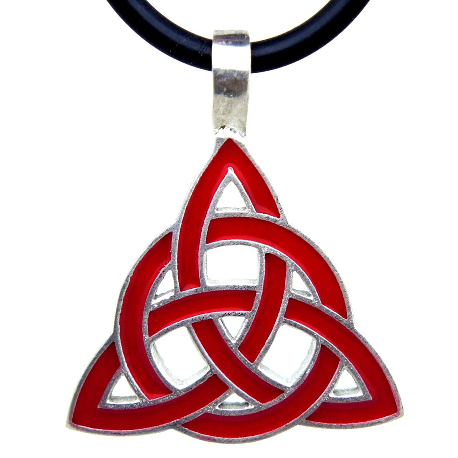 Amazon Red Celtic Triquetra Knot Wicca Charmed Pewter Pendant W