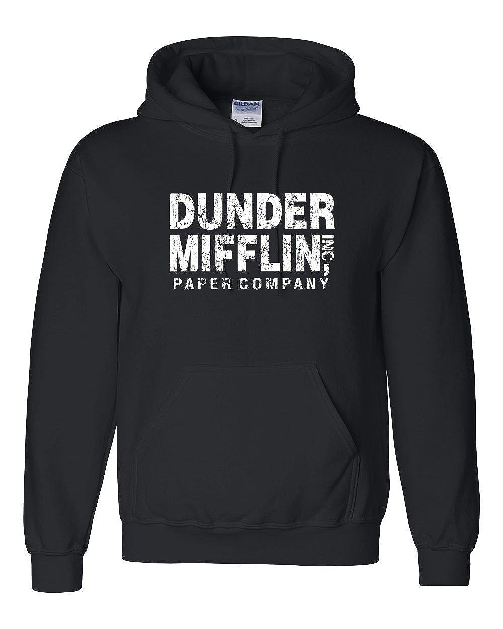 The Creating Studio Adult Dunder Mifflin Hooded Sweatshirt Distressed Design
