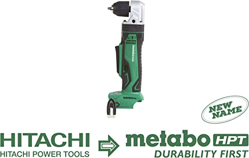 Metabo HPT Right Angle Drill, 18V Cordless, Tool Only – No Battery, 3 8-Inch Keyless Chuck, LED Light, Side Handle DN18DSLQ4