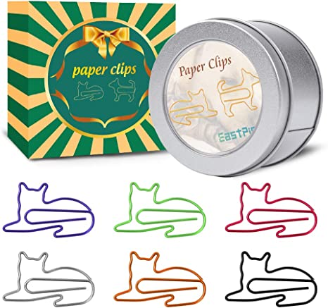 Amazon.com: Clips de papel con forma de gato, suministros de ...