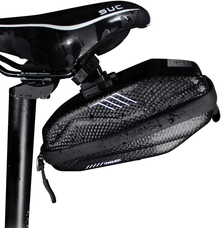 Portable Waterproof Bicycle Rear Seat Saddle Bag with Water Bottle Pocket L/&6