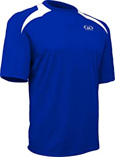 product image for Game Gear PT-818SY-CB Youth Performance Loose Fit Athletic Shirt with White Lightning Shoulder Panel-Leisure and Sport Competition (Youth Small, Royal/White)
