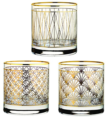 Hospitality Brands HG42884G-012 Coco 12.5 oz. Gold Tumblers (Pack of 12) (Stoneware And Porcelain)