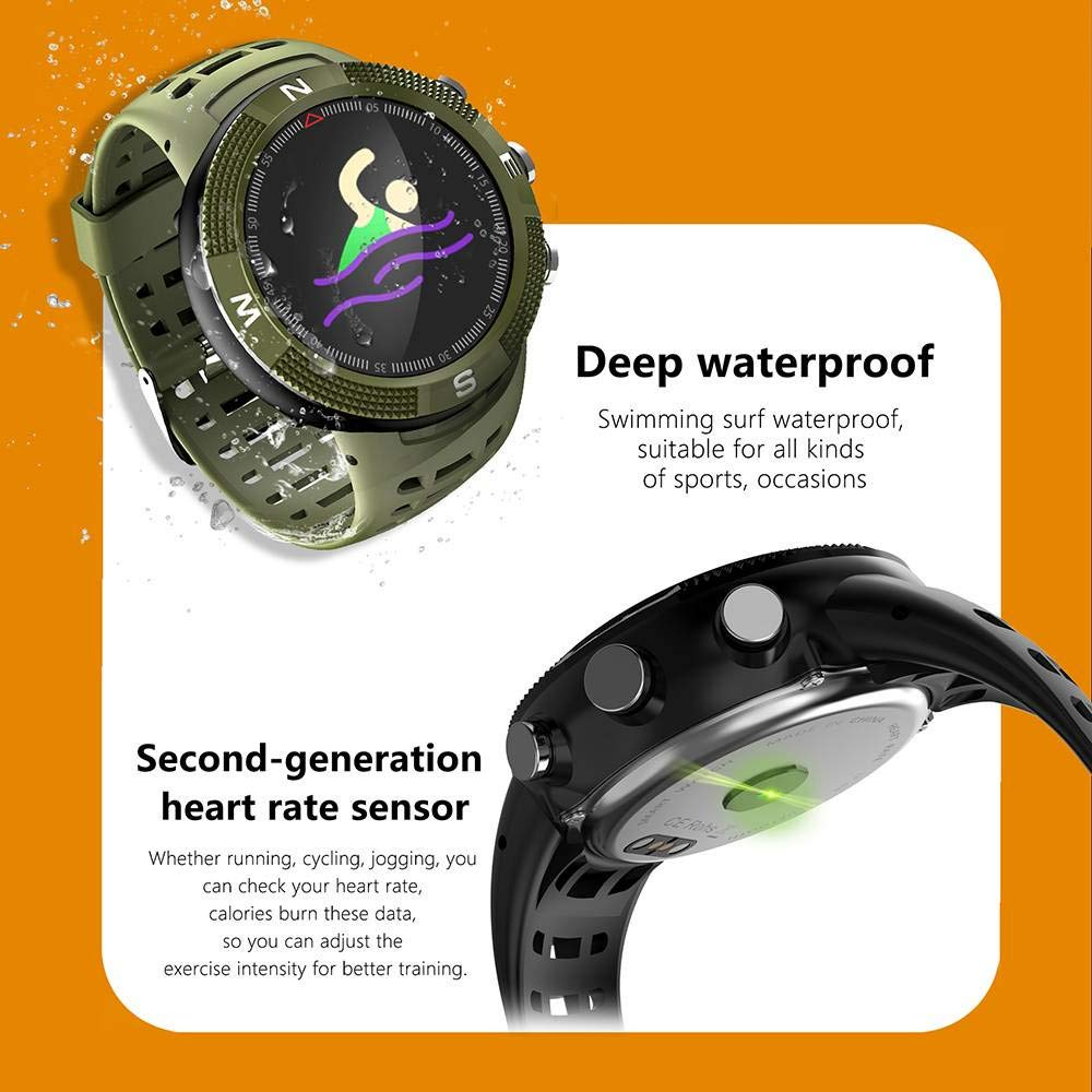 OOFAYWFD GPS Sports Smartwatch Bluetooth 4.2 IP68 Impermeable ...