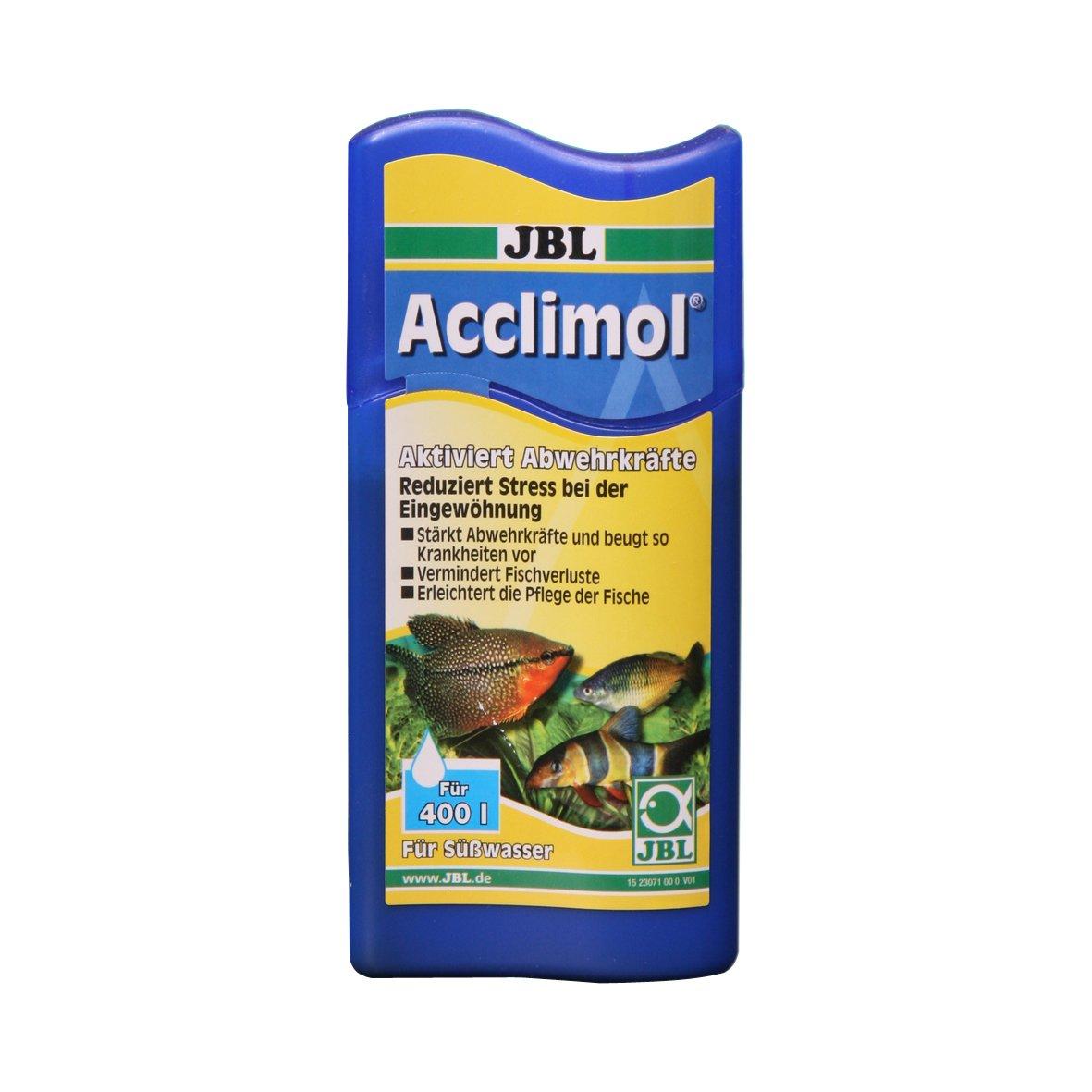 JBL Acclimol 5 l (pour 20000 l), Conditionneur d'eau pour l'acclimatation des poissons en aquarium d'eau douce 2005600