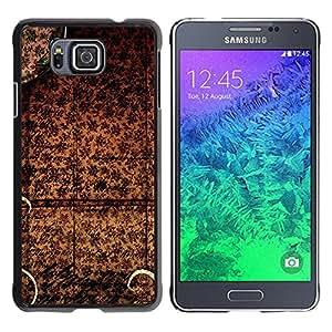 El mantel chino - Metal de aluminio y de plástico duro Caja del teléfono - Negro - Samsung ALPHA G850