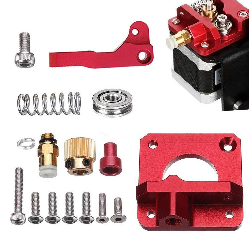 Droite MK8 Extrudeuse Alimentation Kit CR-10s Am/élior/é en Bowden Extrudeuse 1.75mm Filament Aluminum Drive Feed Replacement f/ür Creality CR-10 CR-10 S4 und CR-10 S5