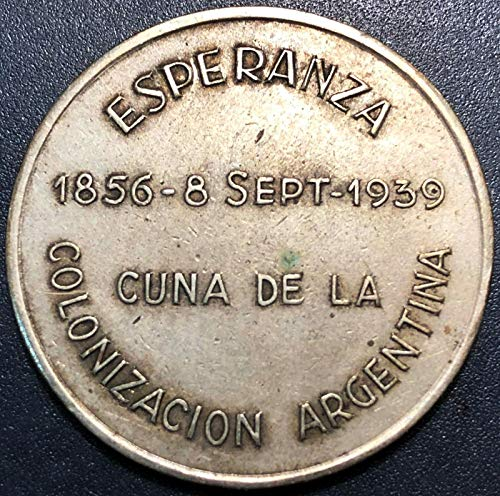 1939 ARGENTINA COLONIZATION SILVER MEDAL ***VERY RARE*** GREAT CONDITION