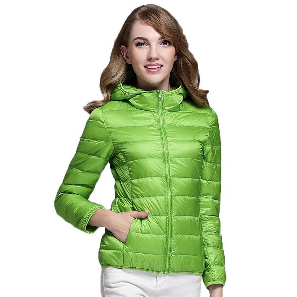 Green Casual 90% Ultra Light White Duck Down Jacket Women Winter Warm Coat Lady Jackets Female Hooded Parka