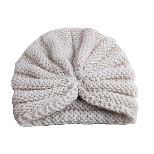 ESHOO Neugeborenes Baby M/ädchen Hut Weich Nettes Turban Stirnband M/ützen Cap 0-2 Jahre