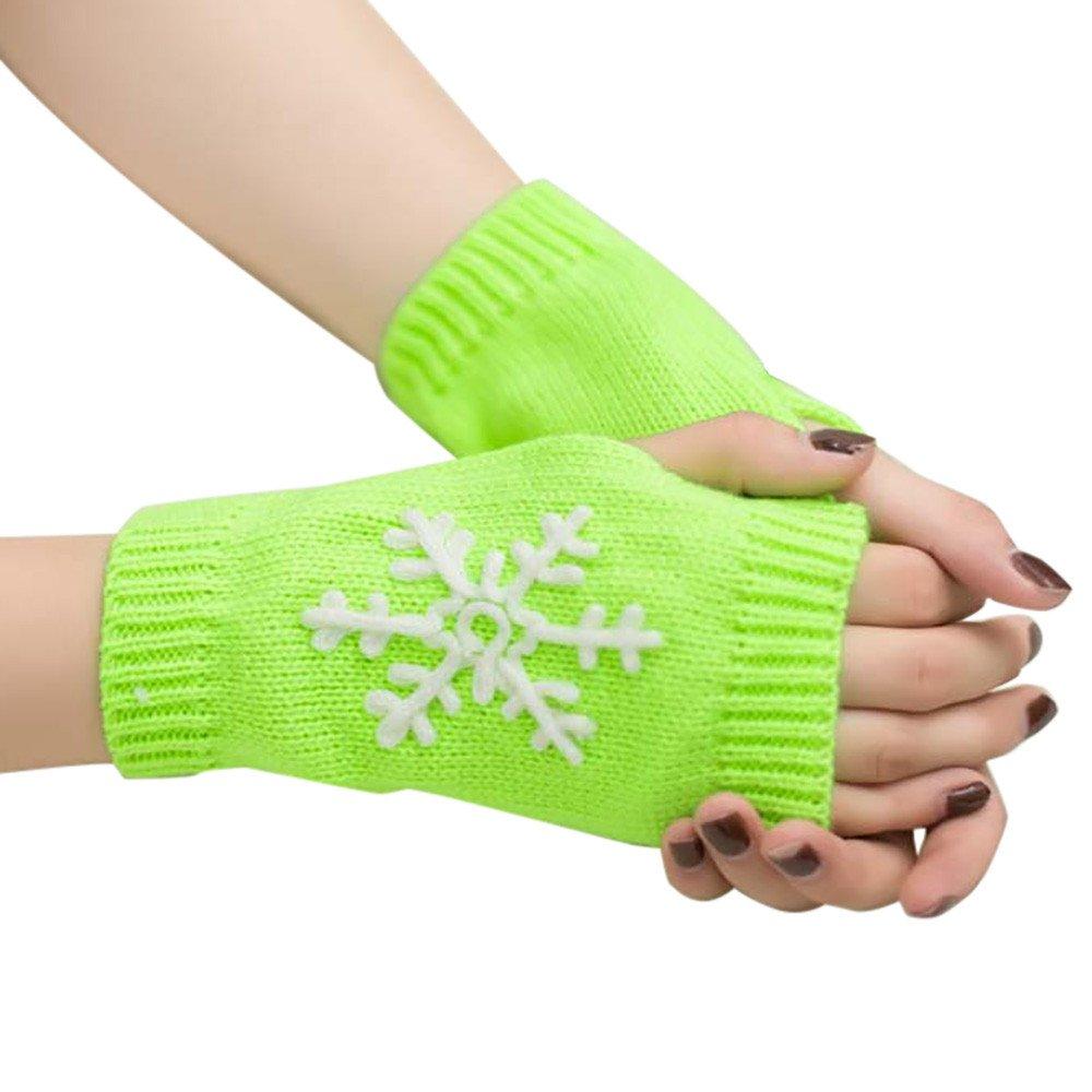 Gloves In A Bottle,Gloves Long,Muay Thai Gloves,Christmas Gloves For Women,Knitted Arm Fingerless Warm Gloves Soft Warm Mitten,Green,M