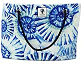 Classic Beach Bag, Pool Bag or Travel Tote- California Style Water Resistant (Shelltastic) For Sale