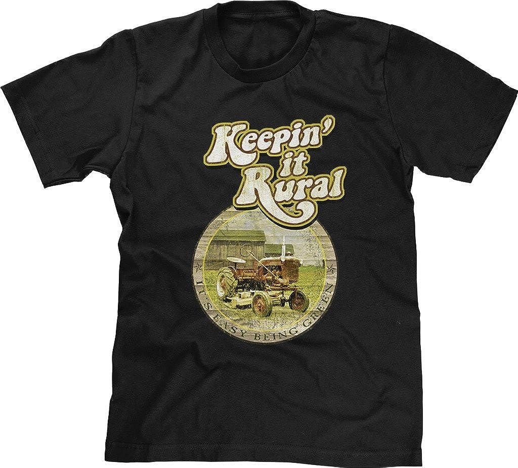 Blittzen – Camiseta de Manga Corta para Hombre Keepin it Rurales su fácil ser Verde