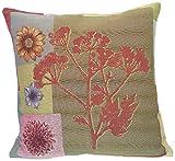 Corona Decor French Woven Flower Theme Decorative Pillow