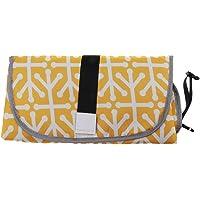 HOMYL Baby Nappy Diaper Bag Changing Change Clutch Mat Foldable Pad Handbag Wallet - Yellow