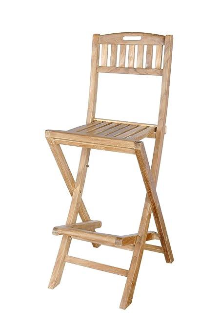Amazon.com: Anderson altavista de teca silla plegable de bar ...
