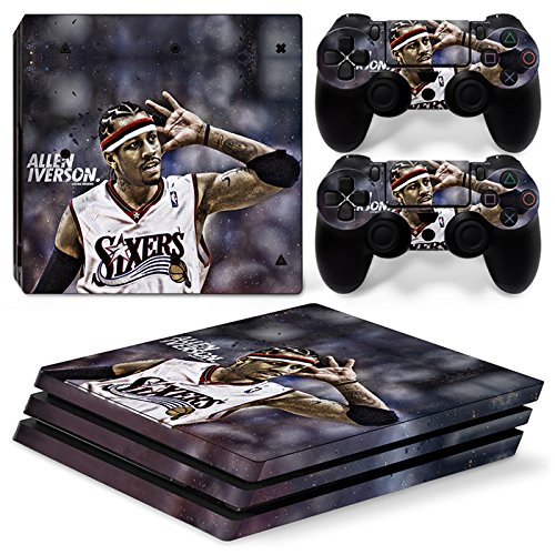 GoldenDeal PS4 Pro Console and DualShock 4 Controller Skin Set - Basketball NBA - PlayStation 4 Pro Vinyl