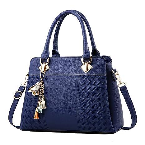 0feb9ca8e4 iHENGH Borse A Spalla Rgazza In Pu Pelle Borsa A Mano Donna Moda Handbag  Semplice Elegante