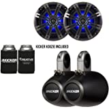 Kicker Marine Bundle with (2)OEM Replacement Speakers + 12KMTES Enclosures (Pair)