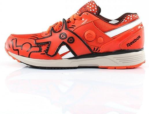 Reebok Pump Running Dual - Keith Haring Blazing Orange - Zapatillas de Deporte de Textil y Piel Hombre, Naranja (Naranja), 43 EU: Amazon.es: Zapatos y complementos