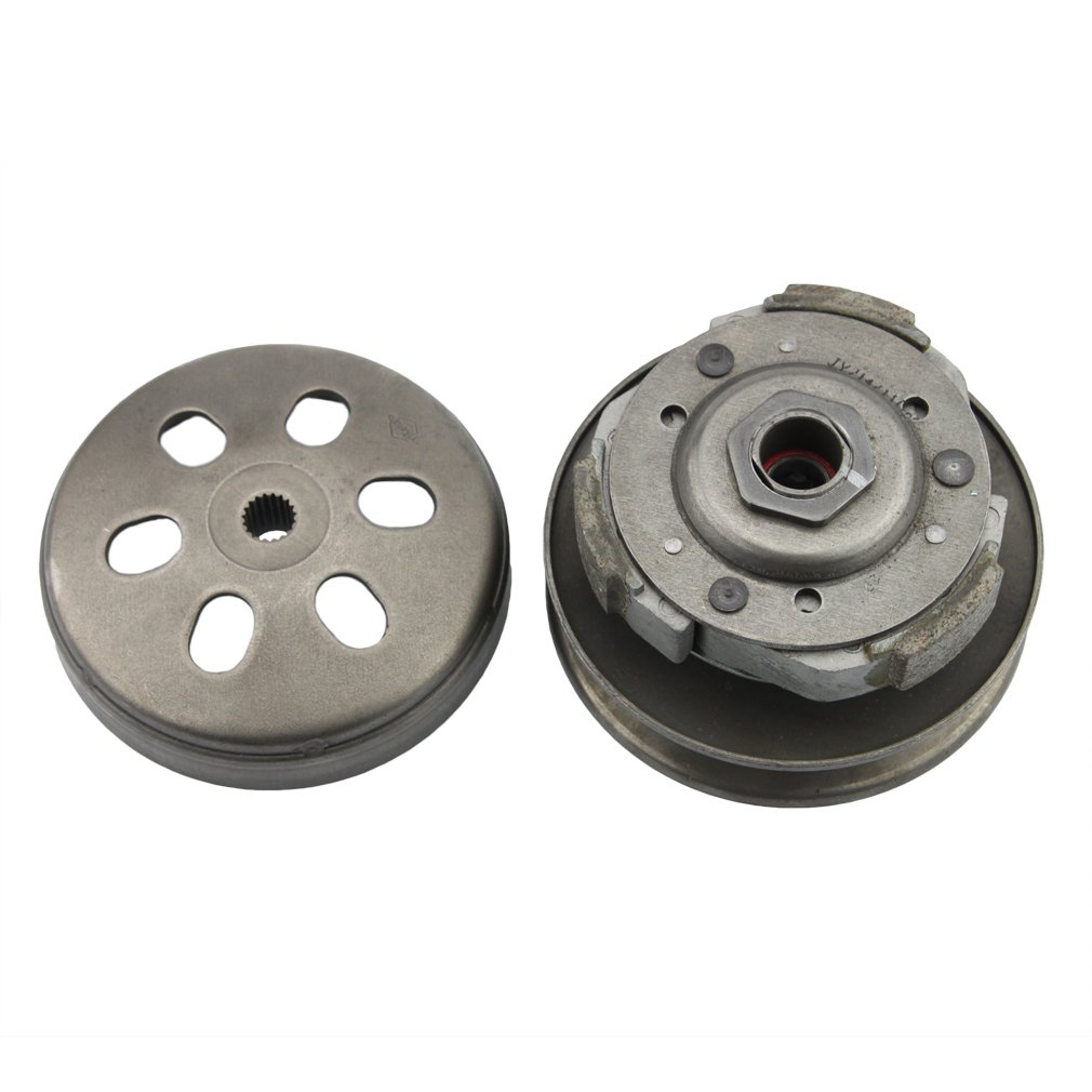 GOOFIT Complete Clutch Assy Rear Clutch Set for 4 Stroke GY6 125cc 150cc Scooter ATV 152QMI 157QMJ Engine Parts K075-007