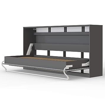 Smartbett Standard 90x200 Horizontal Anthrazit Schrankbett