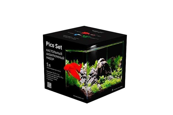 Nicepets ® - Kit de Acuario de Cristal pequeño Completo con iluminación LED y Filtro incluidos con Capacidad para 5 litros: Amazon.es: Productos para ...