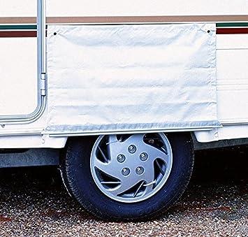 W4 - Toldo para ruedas de autocaravanas, color blanco: Amazon.es: Coche y moto