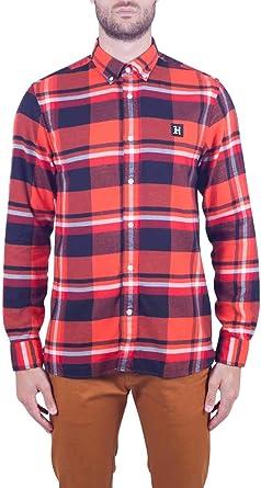 Tommy Hilfiger Tommyxlewis – Camisa de hombre Check de franela naranja: Amazon.es: Ropa y accesorios