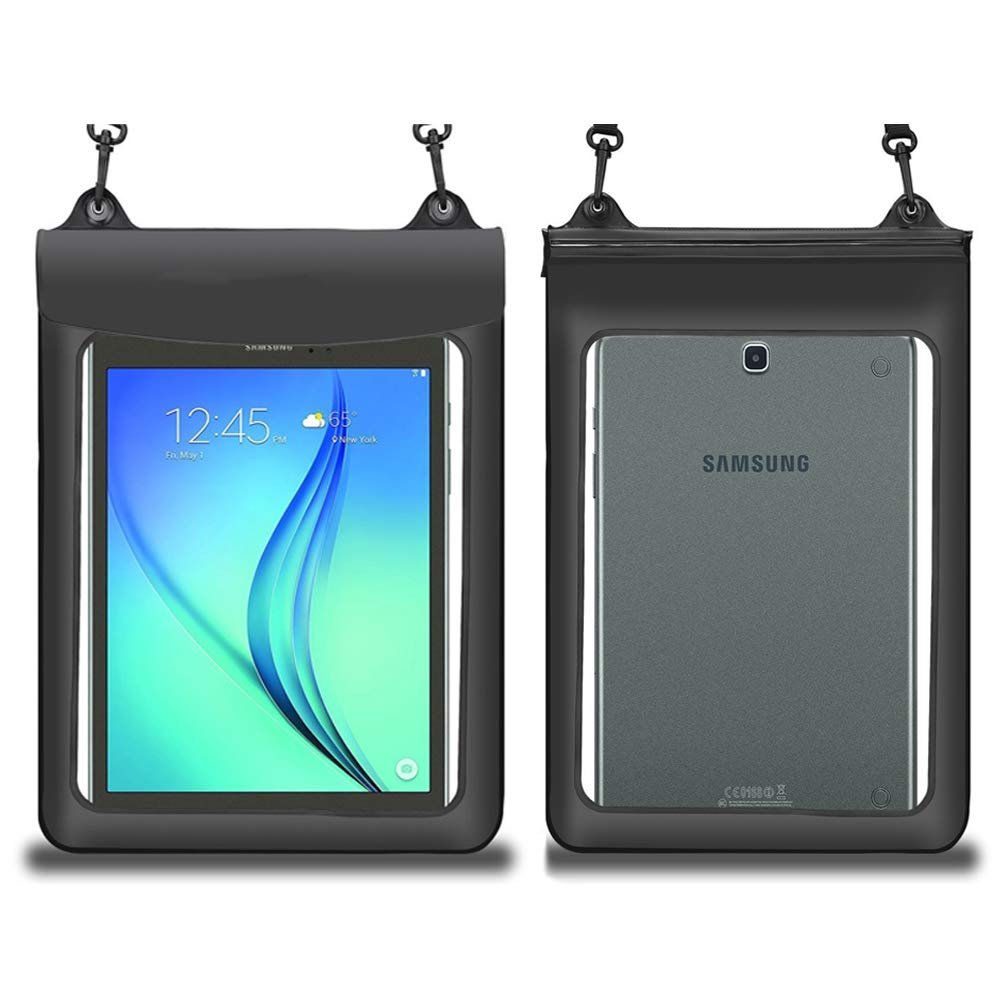 """Waterproof Tablet Case Dry Bag Pouch for iPad Air 10.5 / Pro 11 / Samsung Galaxy Tab A 10.1"""" & 10.5"""" /S4 / Acer Chromebook Tab 10 / Microsoft Surface Go 10"""" / Fire HD 10 Tablet up to 11.5"""",Black"""