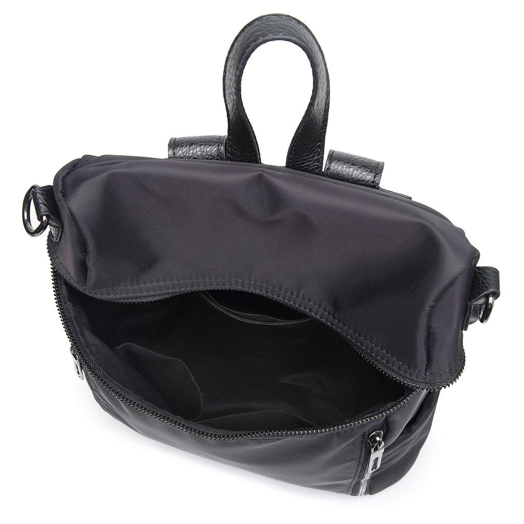 Thobu Women Fashion Nylon Backpack Purse Lightweight Schoolbag Travel Casual Daypack-Black by Thobu (Image #6)