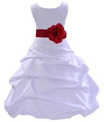 a200304de87 Wedding Pageant White Flower Girl Dress Toddler Bridesmaid Formal Events  808t 2