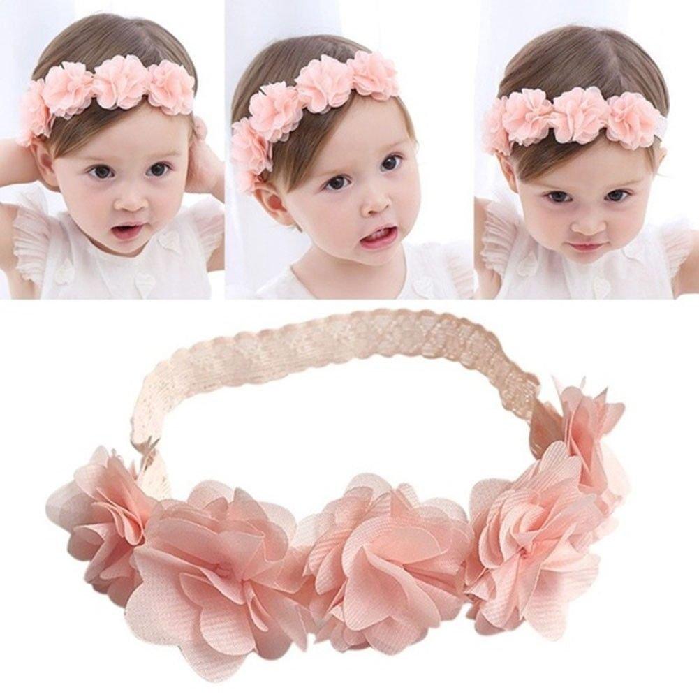 Bébé Bandeau, bande de cheveux pour enfants, mignon bébé fille Toddler Dentelle Fleur Turban Bandeau à fleurs, fille avec motif fleur Bandeau Accessoires