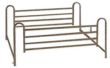 Hospital bed side rail installation
