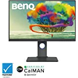 BenQ PD2700U 27 inch 4K Monitor for Designers 3840x2160 UHD IPS Panel with AQCOLOR 100% Rec.709, sRGB; Factory-calibrated; Hotkey Puck, DualView, Eye-Care, Anti-Glare